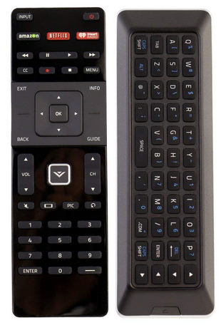 4 Easy to Use Vizio Smart TV Remote - New Qwerty Dual Side Remote XRT 500 with Backlight fit for 2015 2016 Vizio