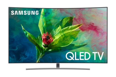 "image of Samsung 55"" 4K Curved QLED TV"