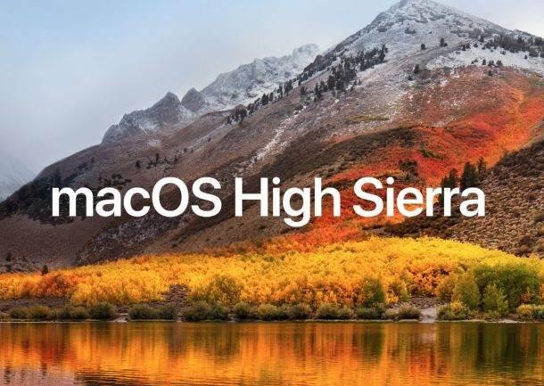 MacOS High Sierra Feature Updates