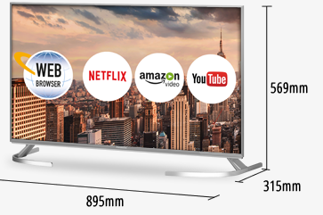 4 Best 40-Inch Smart TVs For 2019 - Panasonic TX-40EX700B