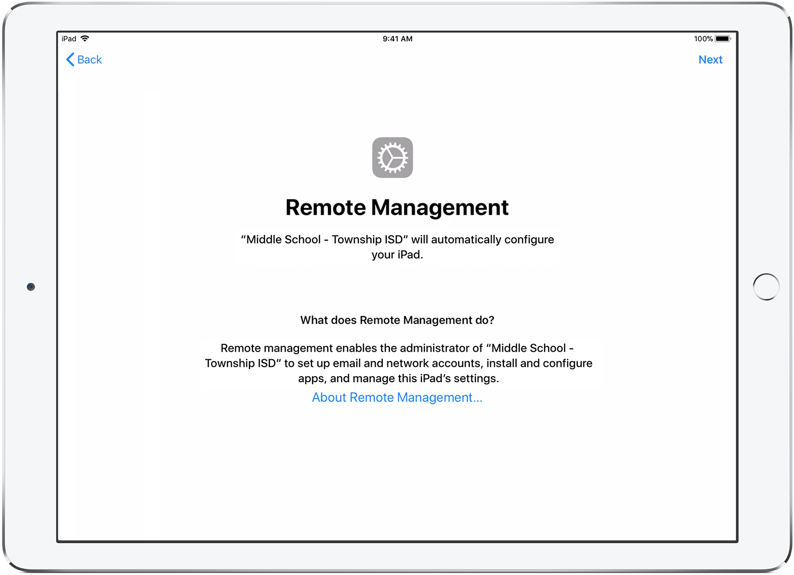 Accessing your Device - Removing MDM from an iPad