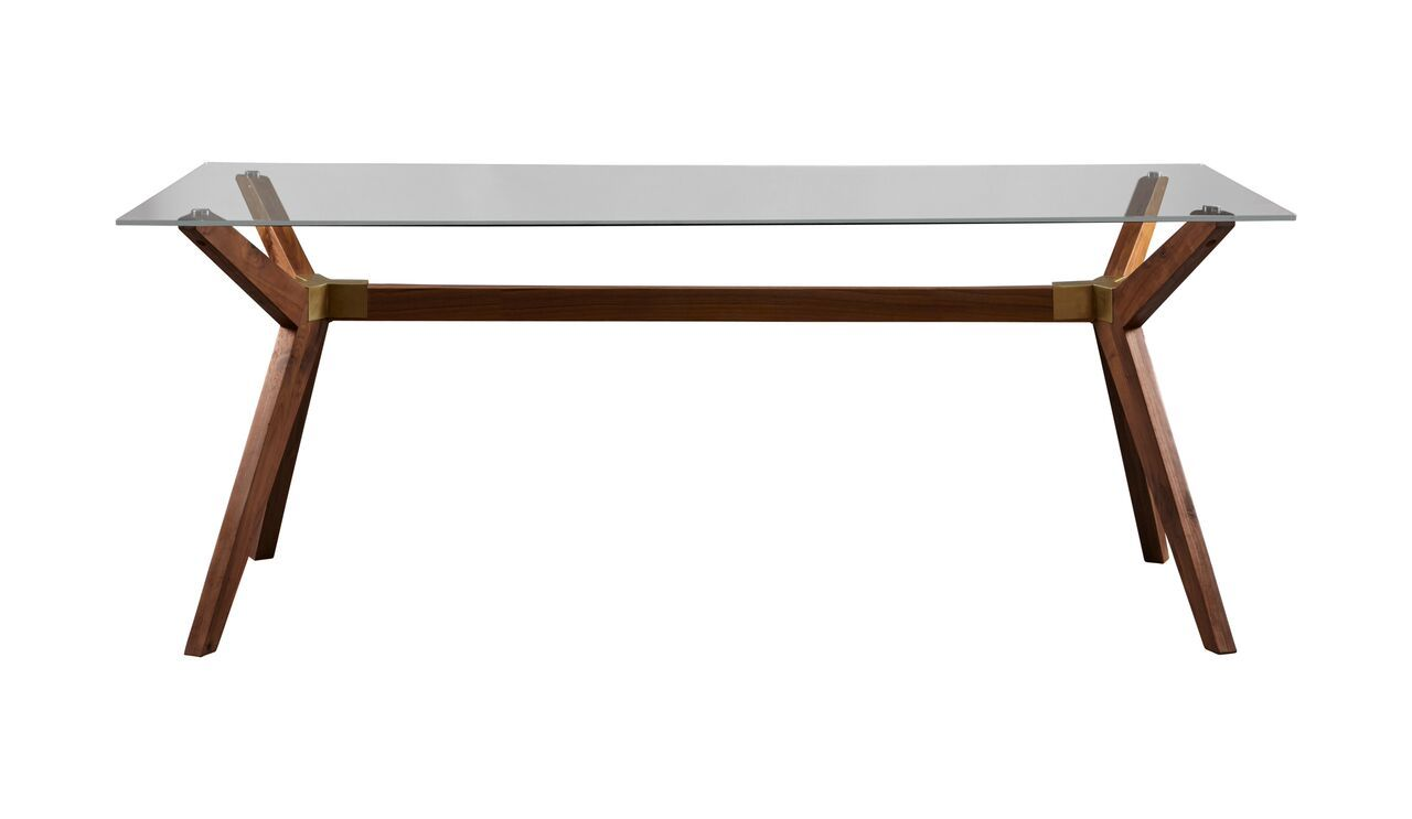 Top 6 Glass Office Desks to Transform Your Office Space -75 inch walnut glass top executive desk