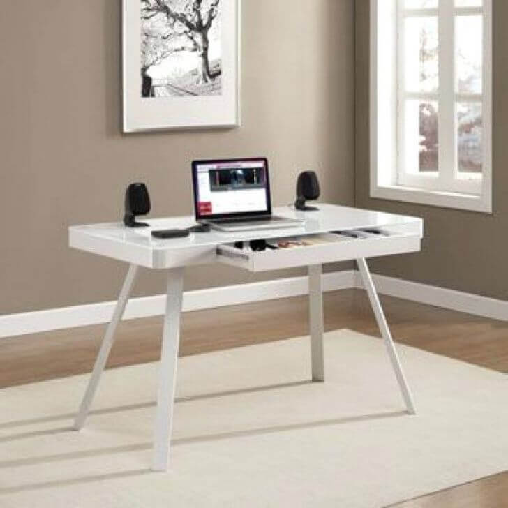 Costco Tresanti Standing Desk Review-clean set up of Costco Tresanti sit stand desk