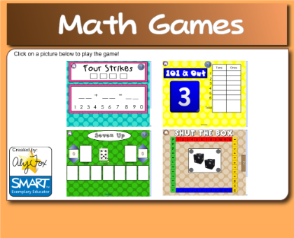 Smartboards and Math - Using Math Games from Smart Exchange