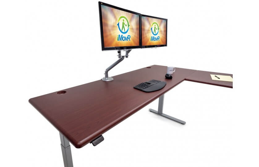 The 6 Best L-Shaped Standing Desks That Will Blow Your Mind-iMovR Lander L Desk