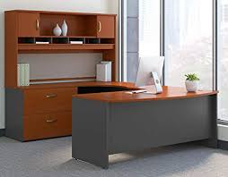 Top 7 U-Shaped Office Desks to Completely Transform Your Office -1. U-Shaped Desk with Hutch from Bush Business Furniture Series C
