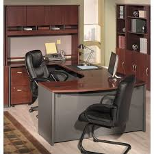 Top 7 U-Shaped Office Desks to Completely Transform Your Office -U-shaped desk with hutch from Bush Furniture Corsa Series