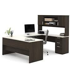 Top 7 U-Shaped Office Desks to Completely Transform Your Office -U-Shaped desk with hutch from Bestar Ridgeley