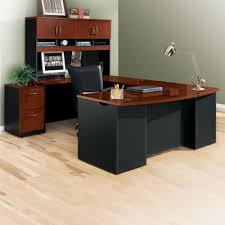 4 Best U-Shaped Office Desks with Hutch Money Can Buy-Sauder Via Executive Bow Front U-Shaped Desk With Hutch