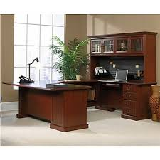 4 Best U-Shaped Office Desks with Hutch Money Can Buy-heritage hill executive u desk