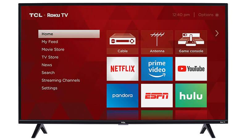 TCL 32S327 32-Inch 1080p 120 Hz Roku Smart LED TV (2018 Model)