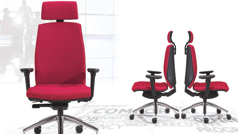 TimeOffice Ergonomic Office Chair with Armrest