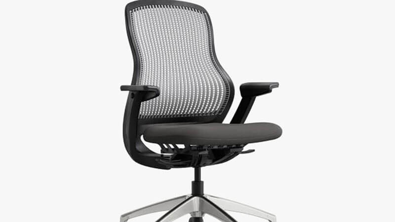 Ergonomic Home Mid-Back White Mesh Swivel Task Chair