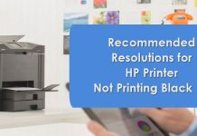 Recommended Resolutions For HP Printer Not Printing Black Ink