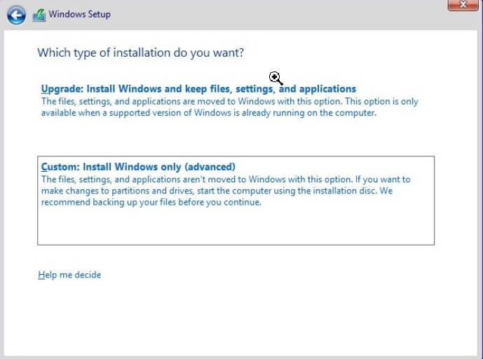 Format the PC and proceed with the installation of Windows