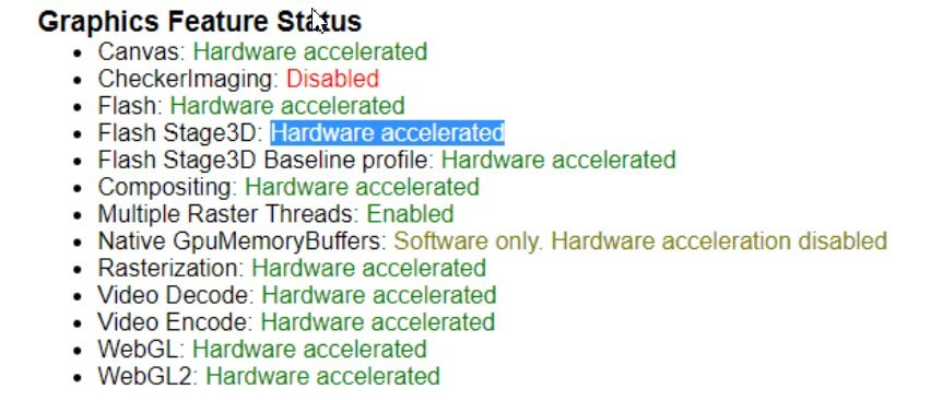 How to check if hardware acceleration is enabled in Chrome?
