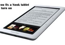 How can you fix a Nook tablet that won't turn on