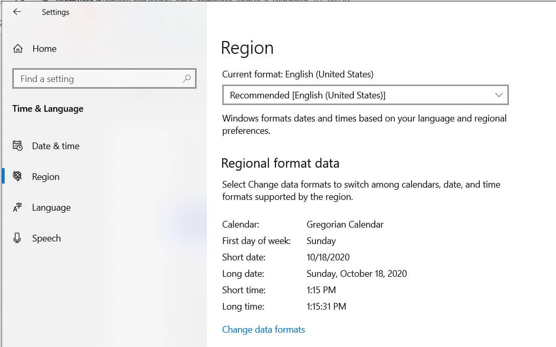 How to change the language in Windows 10? - Date and time