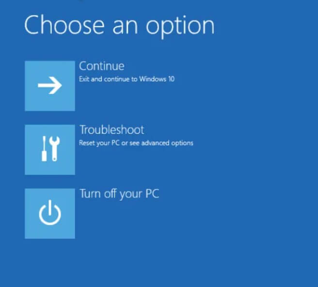 Reset Windows 10 when it does not boot