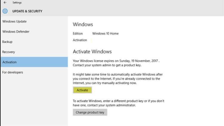 Activate Windows 10, When the Message Appears and How to Delete it - Image 1