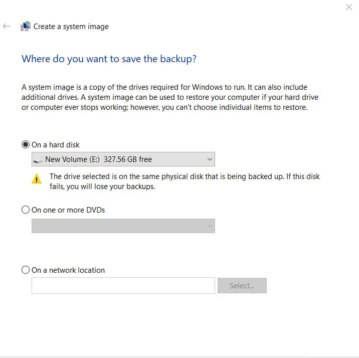 Create Windows 10 System Image Without Using Third-Party Software - Image 3