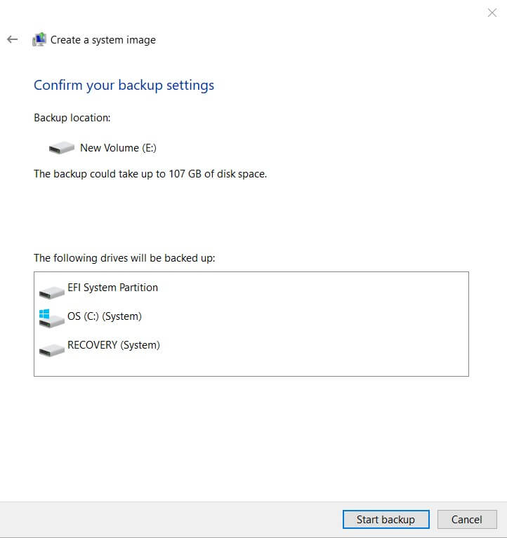 Create Windows 10 System Image Without Using Third-Party Software - Image 4