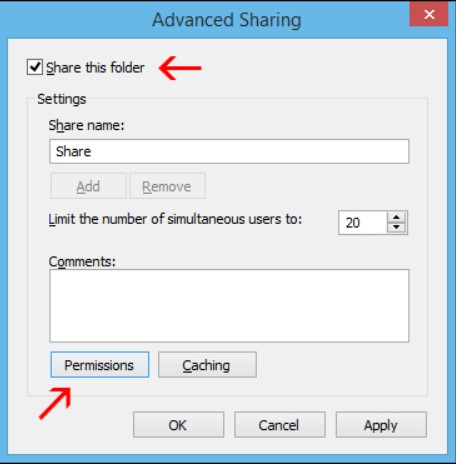 Advanced sharing and permissions at the single-user level