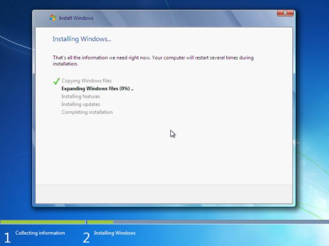 The procedure for reinstalling Windows 7 in practice - Image 2