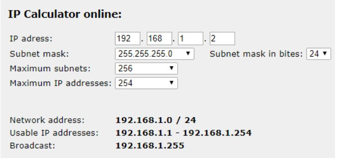 What is the subnet mask?