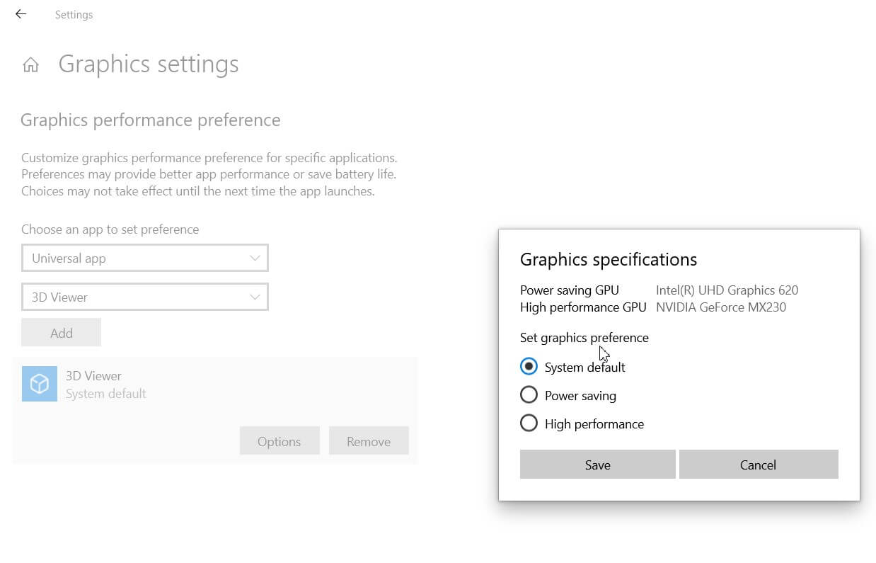 Choose the graphics card to use with Windows 10 - Image 3