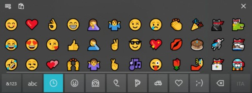 Emoji keyboard in Windows 10: What it is and How it works - Step 4