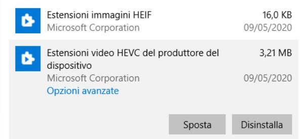HEIC and HEVC: How to open the two file formats with Windows 10 - Step 2