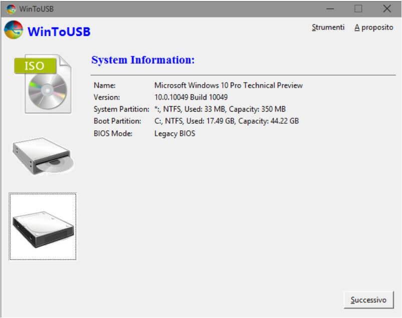 Install Windows on a USB stick or External Drive - Step 4