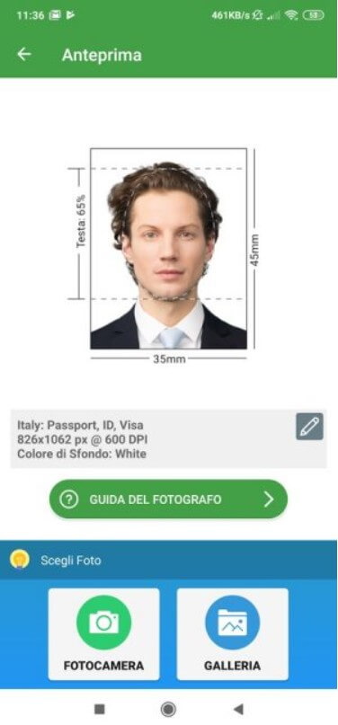 Passport photo, how to create it with an Android smartphone - Image 3