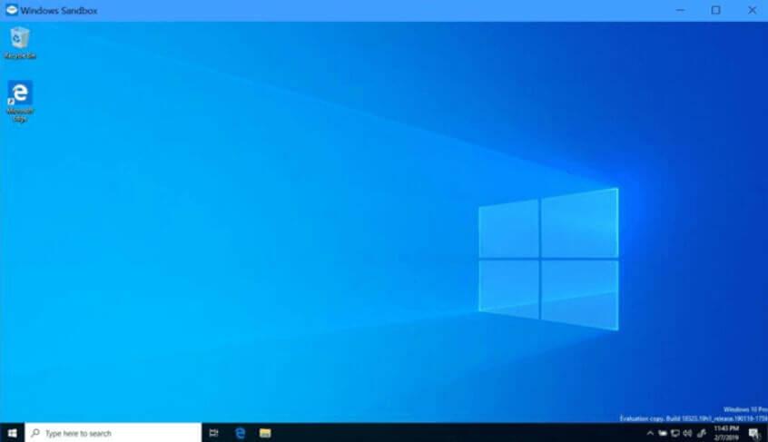 How to activate Windows Sandbox in Windows 10.
