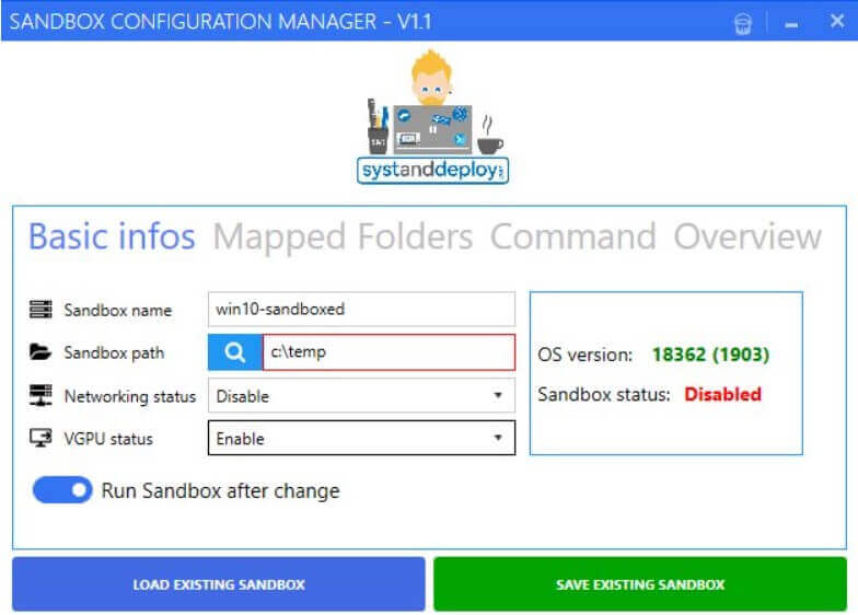 Automate the creation of Windows Sandbox configuration files