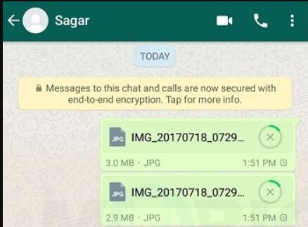Use WhatsApp to share images at full resolution, without quality loss.