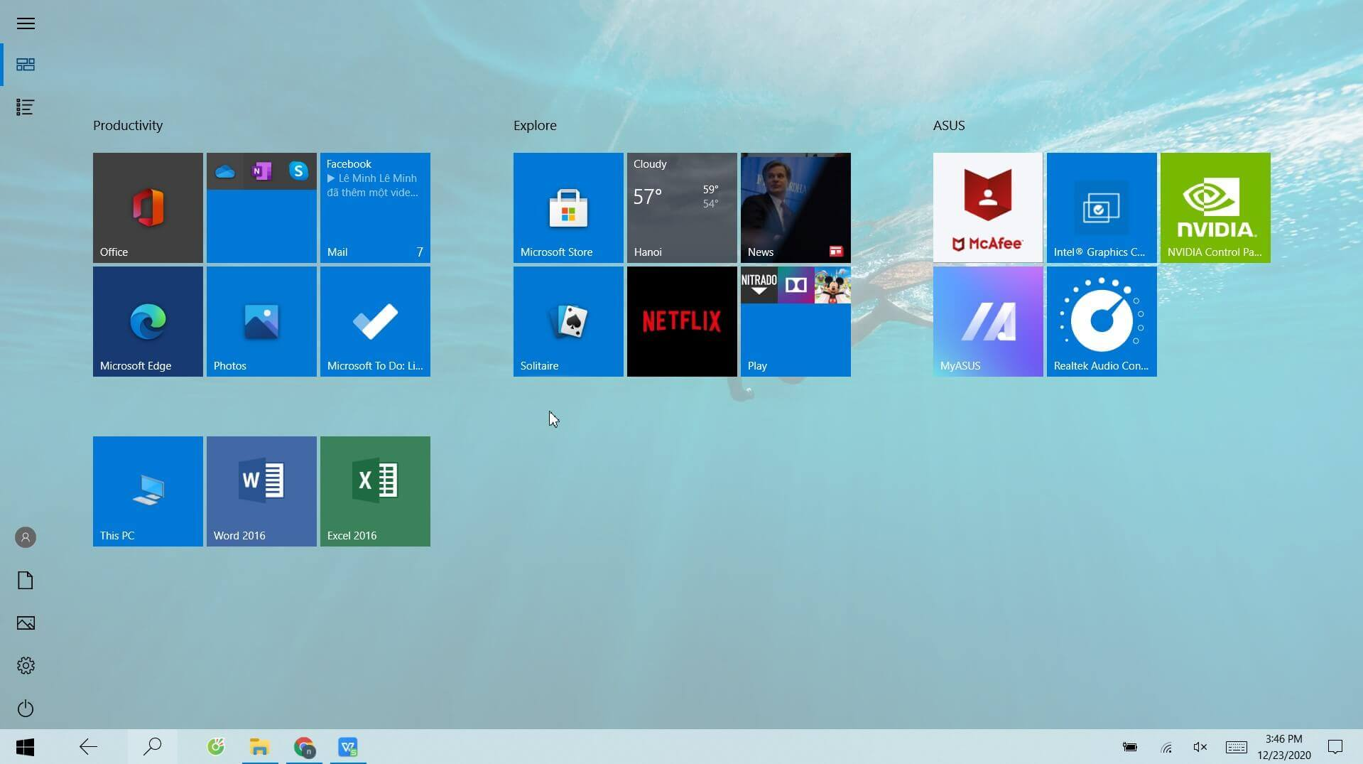 Windows 10 Start Menu: How To Restore that of Previous Versions - Step 1