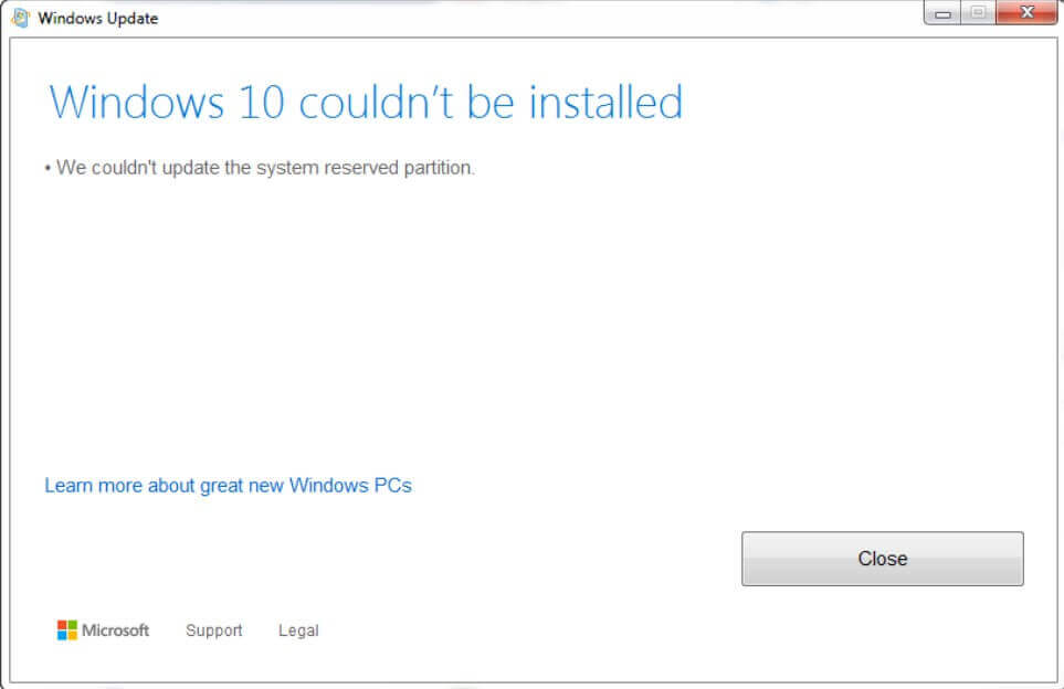 System Reserved Partition and Windows 10 installation.