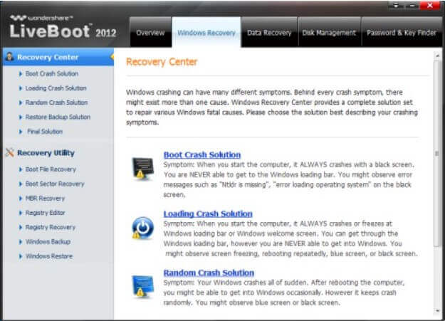 Wondershare LiveBoot 2012 - bootable media for data recovery and troubleshooting - Step 4