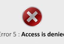 Access denied to files and folders