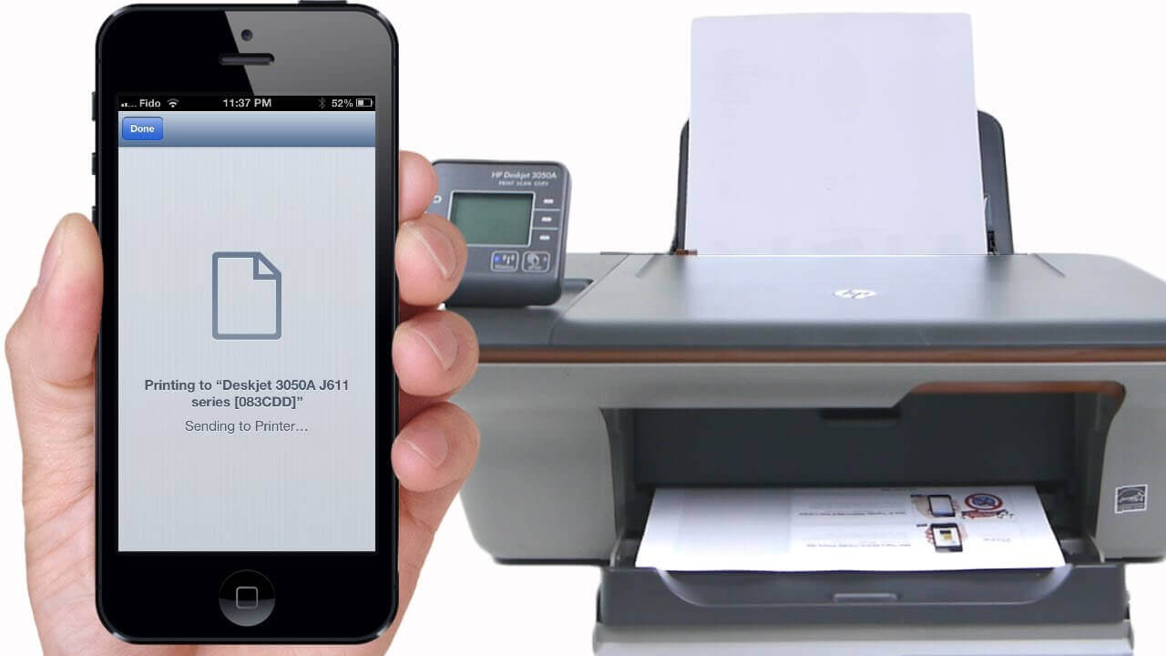 How do you add a printer to an iPhone or iPad?