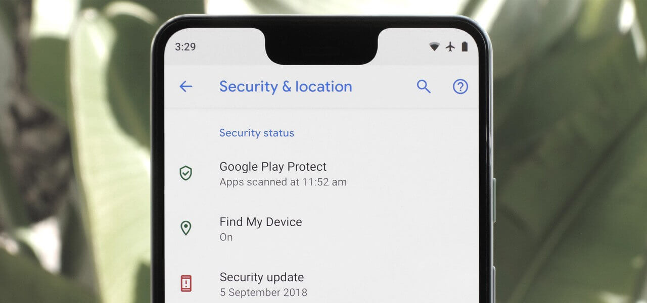 Check security settings