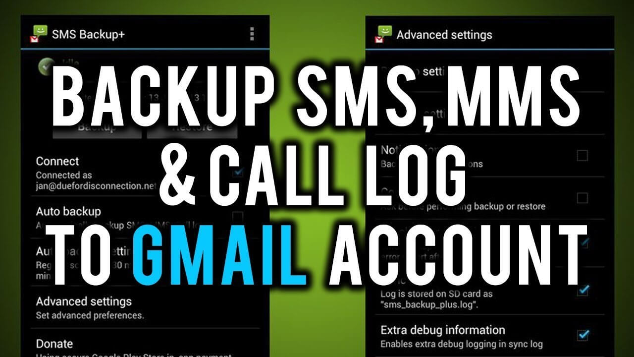 How to backup SMS and call logs