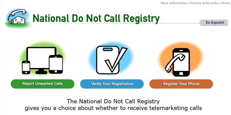 Using the Do Not Call registry
