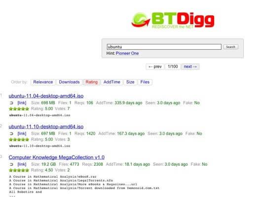 BTDigg - TorrentReactor Alternatives