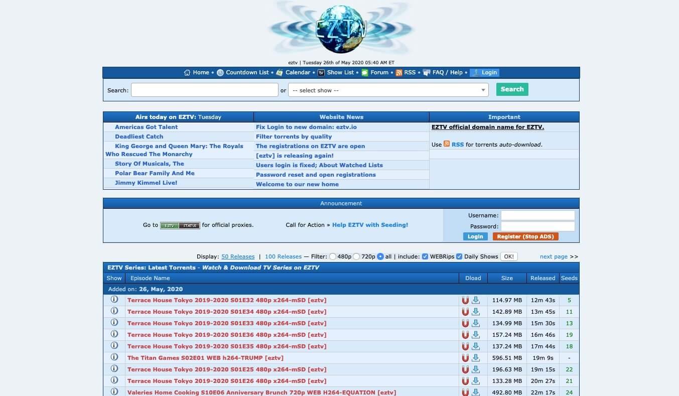 EZTV - TorrentReactor Alternatives