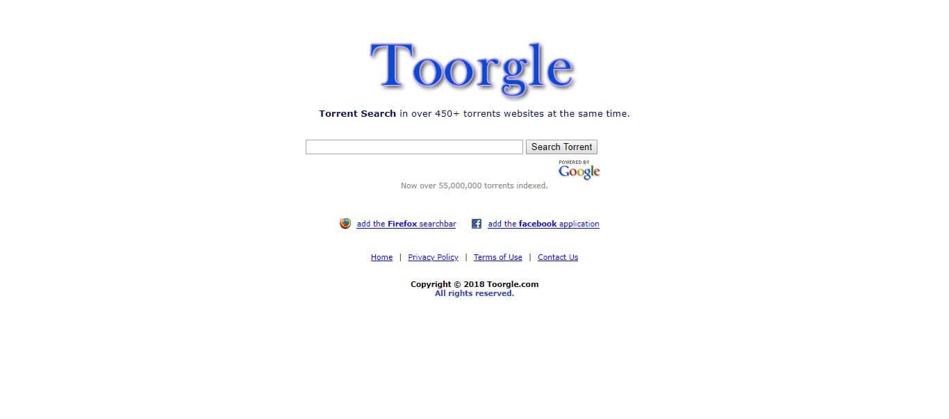 Toorgle - TorrentReactor Alternatives