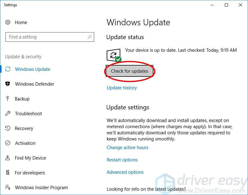 Update the OS and Drivers - Step 2