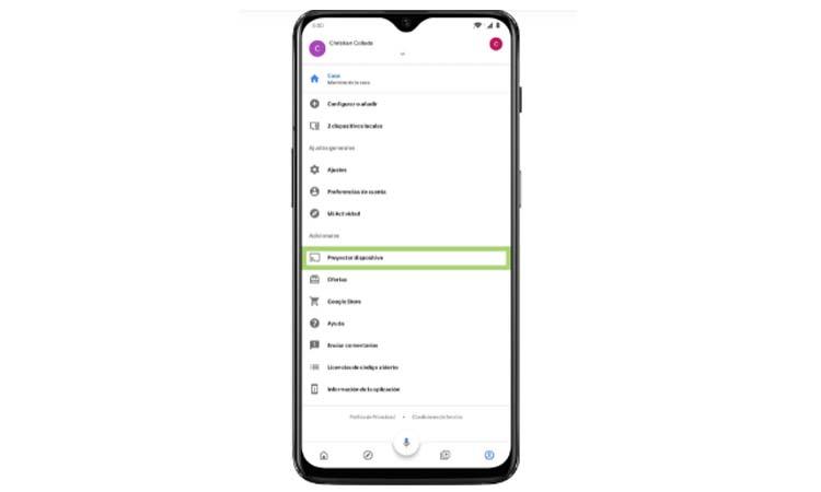 Cast your screen with a Google Chromecast step2